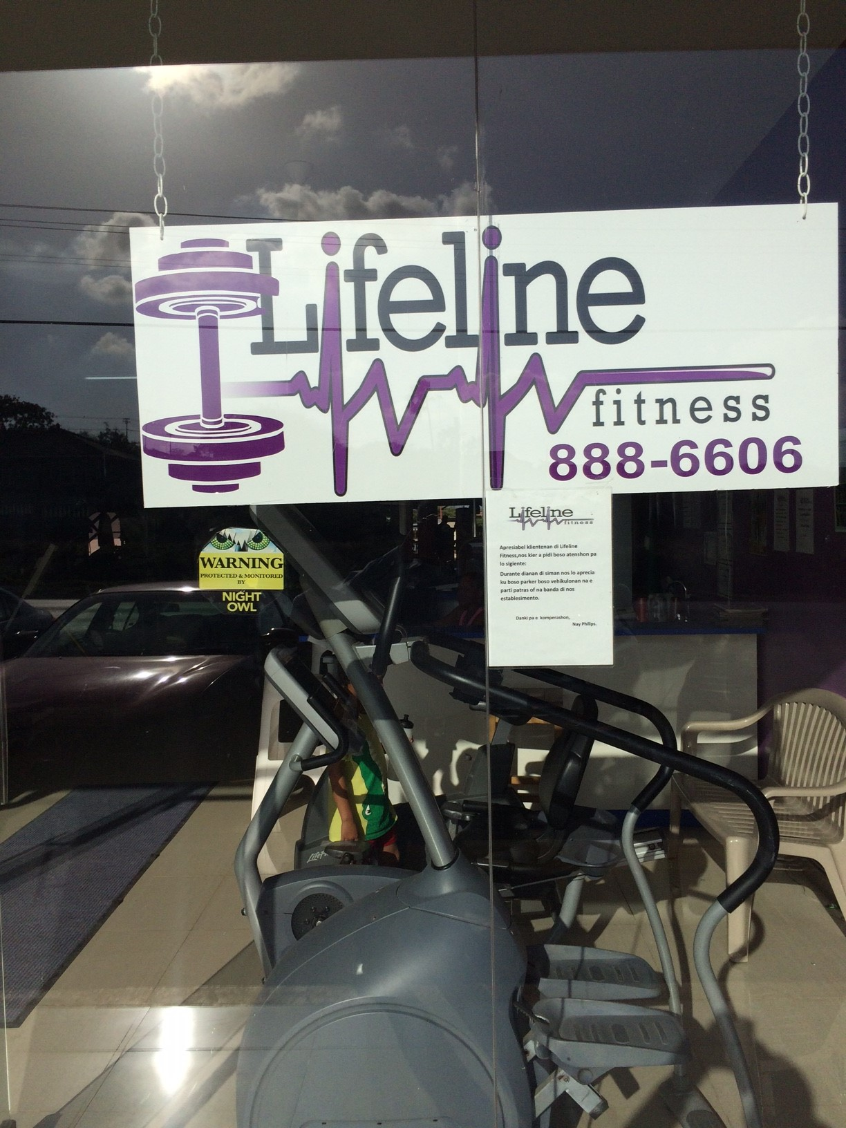 LIFELINE FITNESS Curacao (Front) . Fitness Equipment supplier TECNOSPORTS