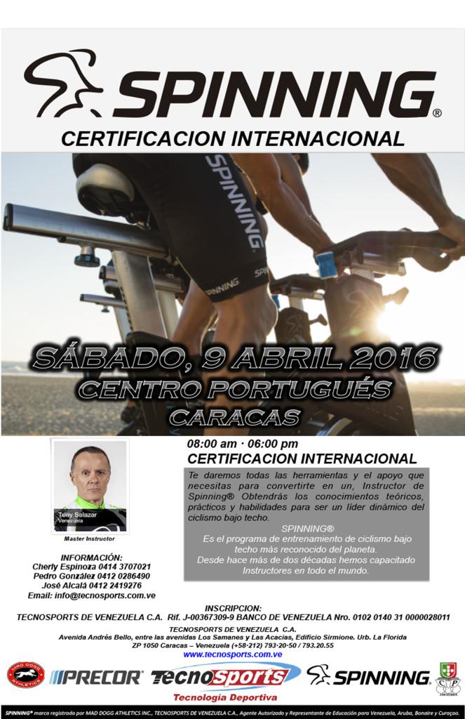tecnosports_certificacion_9_abril_venezuela_spinning