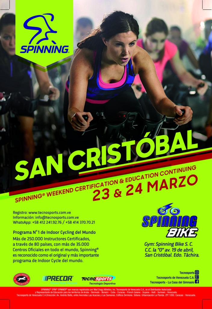Certificación Internacional de Spinning en San Cristobal