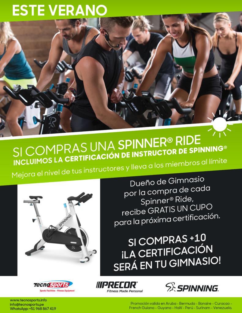 Este Verano promoción de SPINNING Bike con Certificación incluida por TECNOSPORTS para el Perú